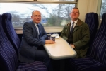 Ian Levy and Council Leader Peter Jackson discuss the return of rail services